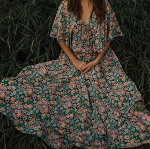 Homemade Floral Full Skirt with Matching Shawl